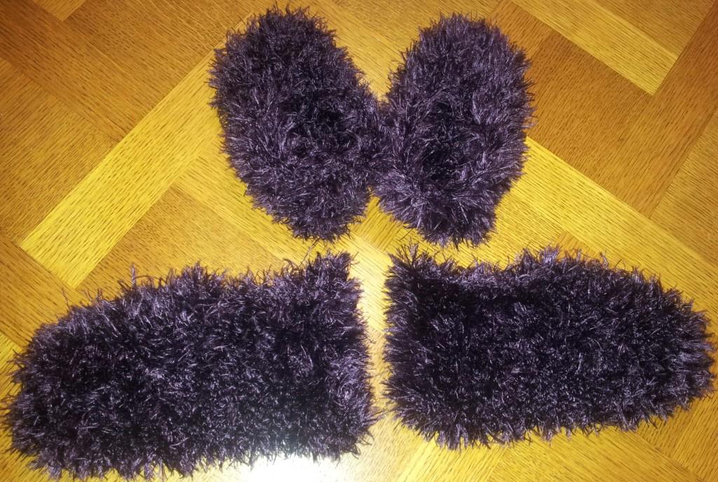 Chaussons laine poilue